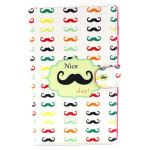 Mustache Pattern Folio PU Leather Case Folding Cover For Samsung T700 Tablet Accessories