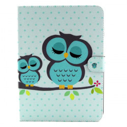 Owl Pattern Folio PU Leather Case Folding Stand Cover For Samsung T530
