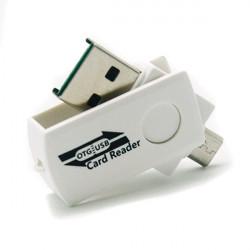 Rotierende Micro OTG und USB Smart Reader für Tablet Mobiltelefon