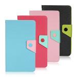 Schlank Folio Mix Farbe Standplatz Leder Kasten für Google Nexus 7 2nd Gen Tablet Zubehör