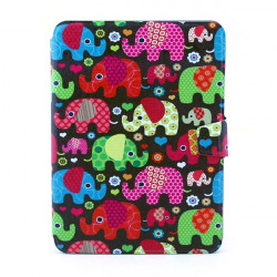 The Elephant Pattern Rotating Bracket Case Cover For Samsung P5200