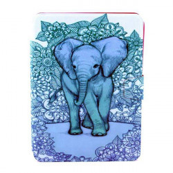 The Wild Elephant Pattern Rotating Bracket Case For Samsung P5200