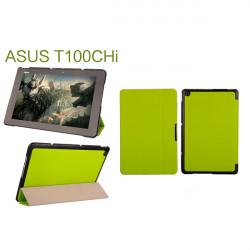 Tir-faldig Folio PU Läderfodral Skydd för Asus T100CHi Surfplatta