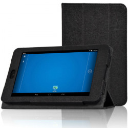 Tri-vikning Folio PU Läderfodral Ställ Skydd för Dell Venue 7 3740