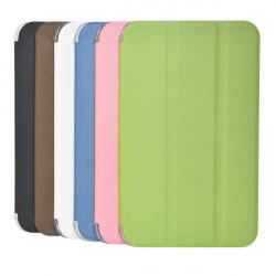 Tri fach Scrub PU Ledertasche für Samsung T110 Tablet