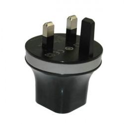 UK 2.1A 2 Port USB Reseladdare Plug för Surfplatta Mobiltelefon