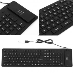 USB Flexible Foldable Silent Silicon Keyboard For Tablet Computer