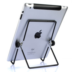 Universal Adjustable Angle Stål Sammenfoldelig Stativ Holder til iPad 2