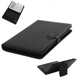 """Universal Bluetooth Tangentbord PU Läderfodral till 9 / 10,1"""" Surfplatta"""