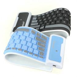 Universal Vikbar Silikon Trådlös Bluetooth-Tangentbord för Surfplatta