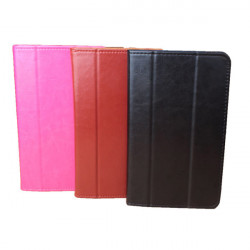 Universal Tri-fold PU Folding Stand Case Cover For CUBE Talk 7X