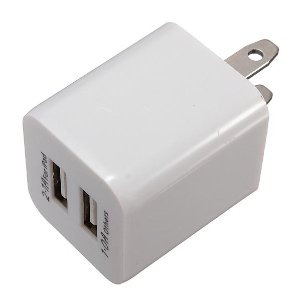 Universal US 5V 2.1A Dual USB-väggladdare Plug för iMobil iPad Surfplatta iPad Tillbehör