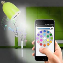 Trådlös Bluetooth-högtalare Audio Lampa LED-ljus
