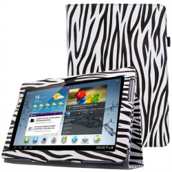 Zebra Pattern PU Leather Stand Case Cover For GALAXY Tab 2 P5100