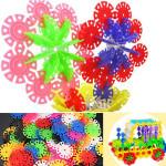 100stk Multicolor Schneeflocke Bausteine Kid pädagogisches Spielzeug Puzzle Lernspiele