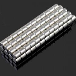 100 Piece 3 X 3 Mm NdFeB Neodymiummagnet Cirkulär Cylinder DIY Set