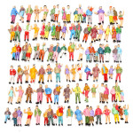 100pcs Mixed Painted Model Trains People Passengers Figures Game & Scenery Toy