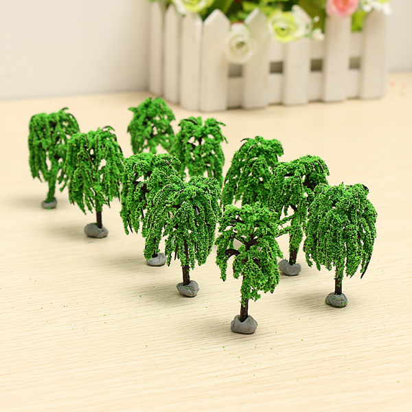 10PCS DIY Building Sand Table Model Material Scene Willow Tree 6cm Game & Scenery Toy