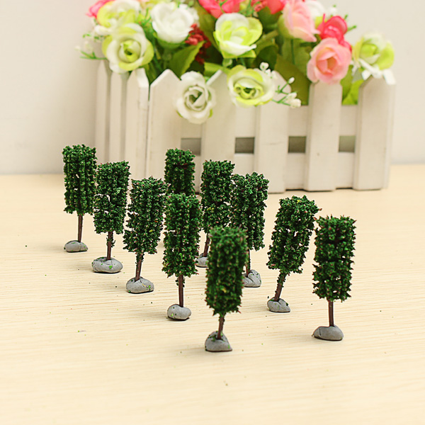 10PCS DIY Sand Model Material Cylindrical Plastic Model Tree 4.5CM Game & Scenery Toy