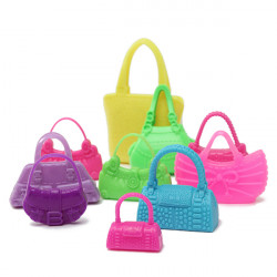 10pcs Mix Fashion Accessories Handbag For Barbie Doll Cute Toy