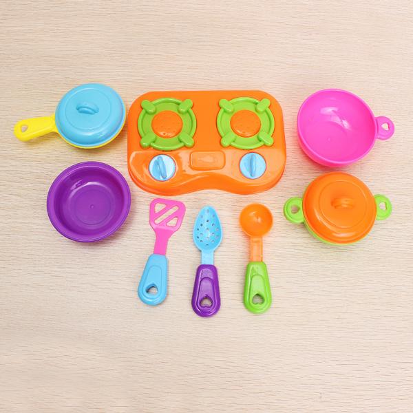 10pcs/set Educational DIY Play Toy Child Kitchen Toys Set Classic Toys Game & Scenery Toy