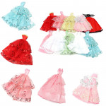 10x Fashion Handmade Clothes Dresses Outfit Wedding for Barbie Doll Game & Scenery Toy