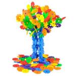 128 Stück Multicolor Schneeflocke Gebäude Kid pädagogisches Babyspielzeug Puzzle Lernspiele