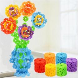 128stk Multicolor Schneeflocke kreative Bausteine