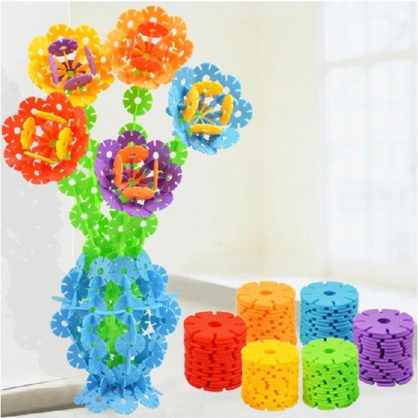128stk Multicolor Schneeflocke kreative Bausteine Lernspiele