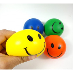 12stk Hand Stress Relief Squeeze Foam Bold Smile Face Bolde Legetøj