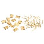 12xMini Metallscharniere mit Schrauben für Barbie 12.01 Dollhouse Möbel Spiel