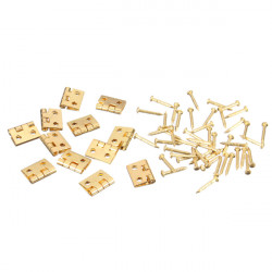 12xMini Metal Hinges with Screws For barbie 1/12 Dollhouse Furniture