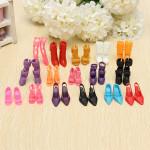 16 Paare arbeiten Puppen Schuhe Absatz Sandelholz Set für Barbie Puppe Spiel