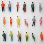 1:75 Scale OO Gauge Hand Painted Layout Model Train People Figure Game & Scenery Toy