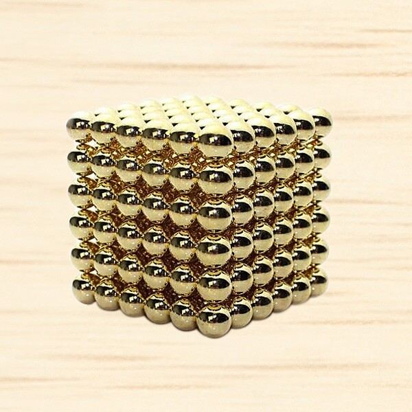216st 3mm Guld- DIY Neocube Magic Beads Magnetiska Bollar Pussel Coola Prylar