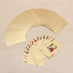 24K Gold Foil Forgyldt Poker Spillekort Certficate Dollar EURO