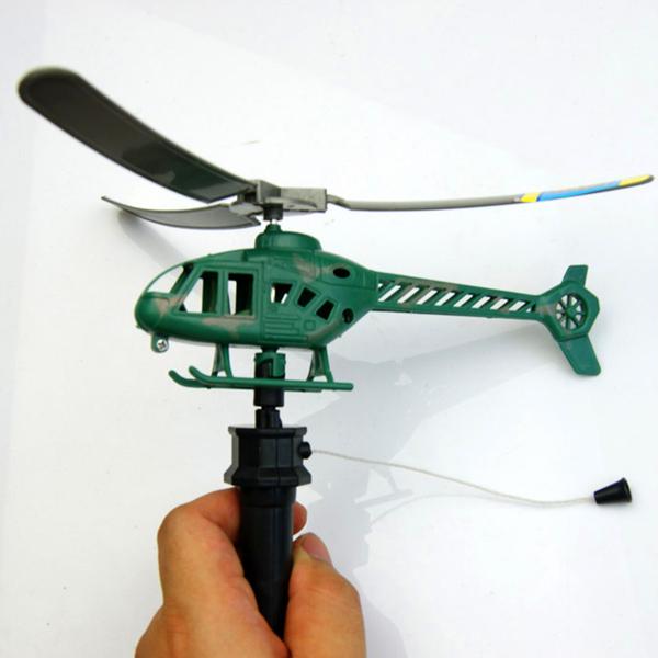 2stk Håndtag Træk Planes Power Helikoptere Børn Udendørs Legetøj Spil & Lege