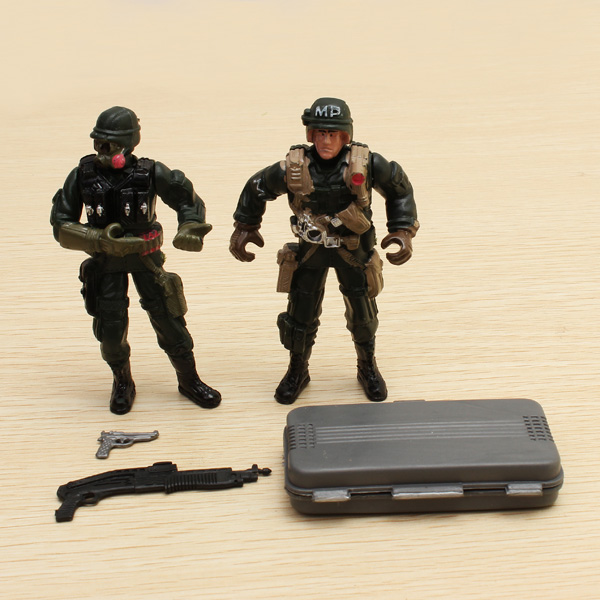 2PCS Special Forces Soldier Toy Action Figure Dynamic Model 1:18 Game & Scenery Toy