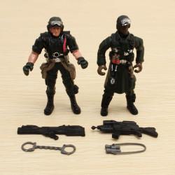 2ST Kraft Soldat Spielzeug Action Figur Dynamisches Modell 1.18