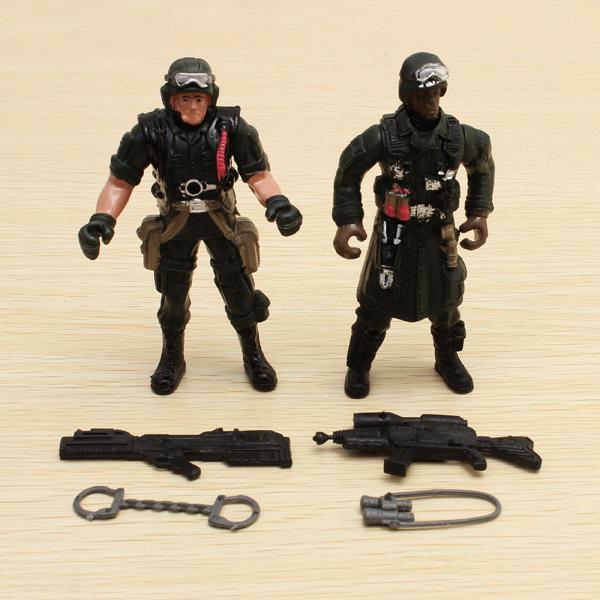 2stk Special Forces Soldier Legetøj Actionfigurer Dynamic Model 1:18 Spil & Lege