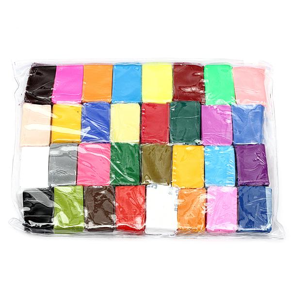 32stk Bunte Fimo Polymer Plastik, weichen Ton Fertigkeit DIY Spielzeug Lernspiele