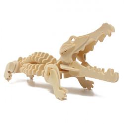 3D Pussel Trä Wisdom Animal Crocodile Pedagogisk Leksak