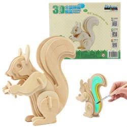 3D Puzzle aus Holz Weisheit Tier Eichhörnchen pädagogisches Spielzeug