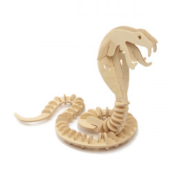 3D Jigsaw Puzzle Wooden Wisdom Development Cobra Snake Toy