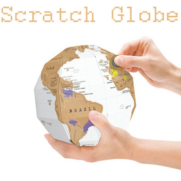 3D Scratch Globe World Map Bygga Utforska Scratch Montera World Map Modellbyggsatser