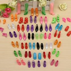 40 Paare Verschiedene High Heel Schuhe Stiefel Zubehör für Barbie Puppe