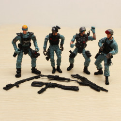 4PCS Military LAPD SWAT United States Police Soldier Model Set