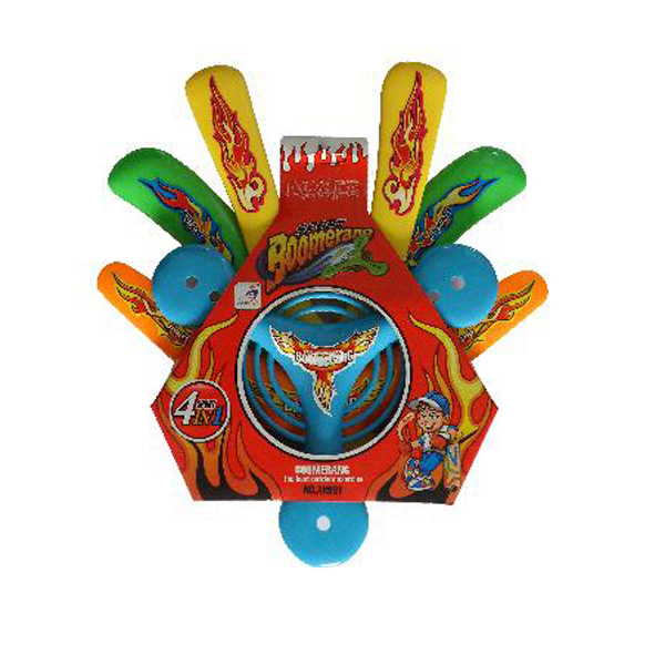 4 Pieces ABS Safety Soft Frisbee Boomerang Set Outdoor Sports Toy Game & Scenery Toy