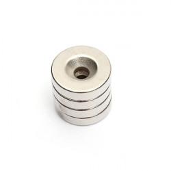 4st N52 20 * 5mm Planförsänkare Hole 5mm Neodymium Super Starka Magneter