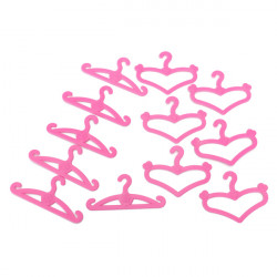 50x Clothes Dress Apparel Hanger Holder Closet for Barbie Blythe Doll
